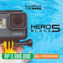 jual gopro hero 5 black toko kamera plazakamera surabaya dan jakarta