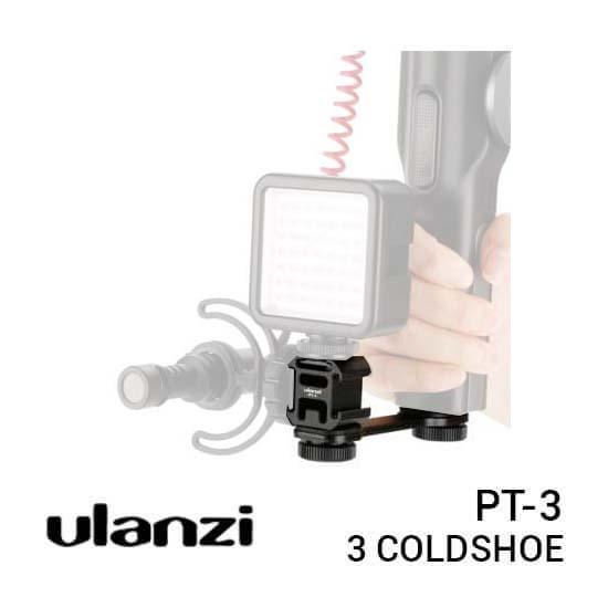 Ulanzi PT-3 Triple Cold Shoe Extension Bracket