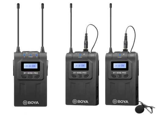 jual Boya BY-WM8 Pro K2 - 2TX UHF Wireless Microphone harga murah surabaya jakarta