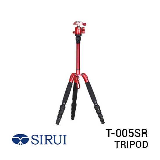 jual Sirui T-005SR Red Aluminium Tripod With B-00B Ballhead harga murah surabaya jakarta