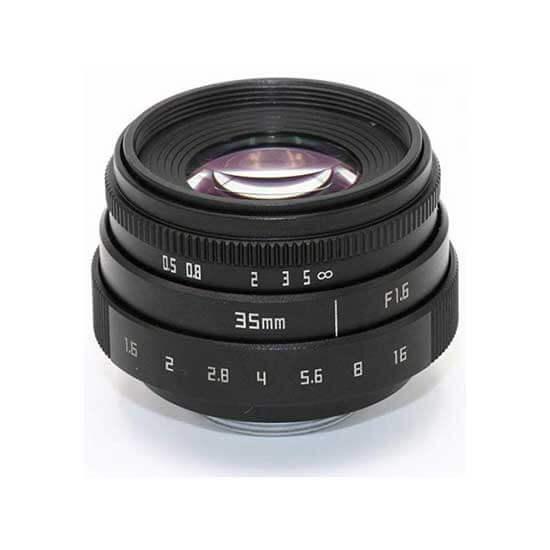 jual lensa Fujian 35mm F1.6 CCTV Lens Black harga murah surabaya jakarta