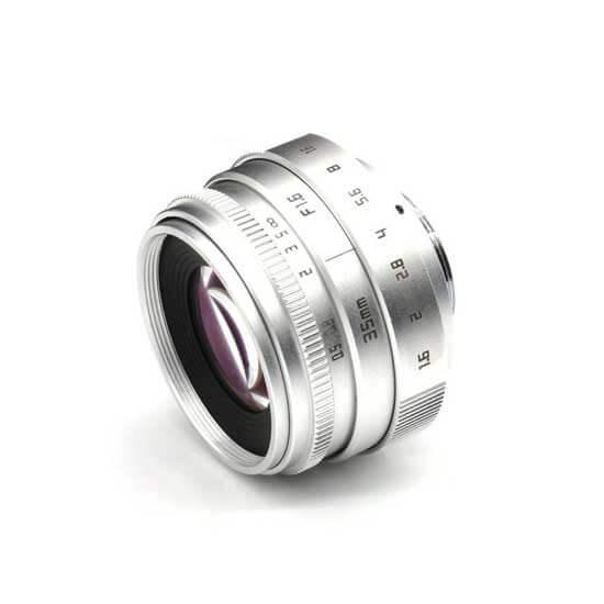 jual lensa Fujian 35mm F1.6 CCTV Lens Silver harga murah surabaya jakarta