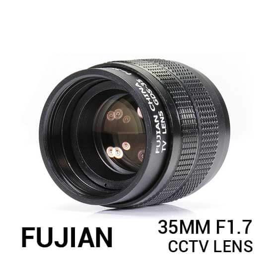 jual lensa Fujian 35mm F1.7 CCTV Lens Black harga murah surabaya jakarta