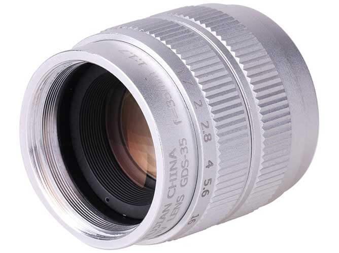 jual lensa Fujian 35mm F1.7 CCTV Lens Silver harga murah surabaya jakarta