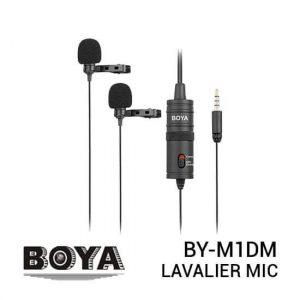 jual mic Boya BY-M1DM Dual Omnidirectional Lavalier Mic harga murah surabaya jakarta
