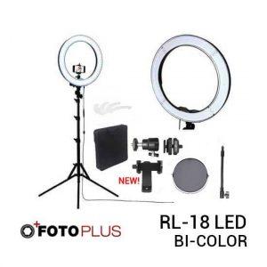jual Fotoplus RL-18 Ring Light Bi-Color Complete Set harga murah surabaya jakarta