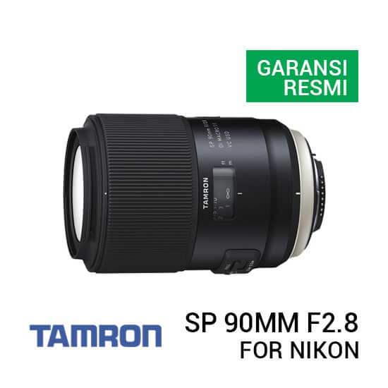 jual lensa Tamron New SP 90mm F2.8 Di Macro 1:1 VC USD w/hood For Nikon [model F017] harga murah surabaya jakarta