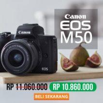jual kamera canon eos m50 toko kamera online plazakamera surabaya dan jakarta