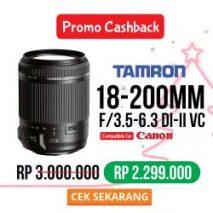 Promo lensa tamron 18-200mm toko kamera online plazakamera surabaya dan jakarta