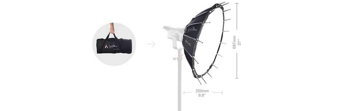 jual Aputure Light Dome Mini Softbox For COB Lights harga murah surabaya jakarta