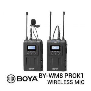 jual Boya BY-WM8 Pro K1 UHF Wireless Microphone harga murah surabaya jakarta