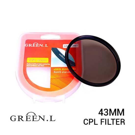 jual Green L Filter CPL 43mm harga murah surabaya jakarta