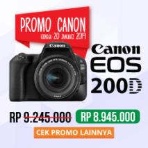 jual kamera canon eos 200D toko kamera online plazakamera surabaya dan jakarta