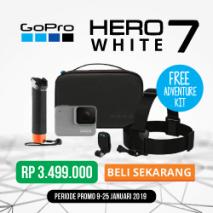 jual gopro hero 7 white toko kamera online plazakamera surabaya dan jakarta