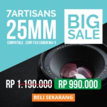 jual lensa 7artisans 25mm toko kamera online plazakamera surabaya dan jakarta