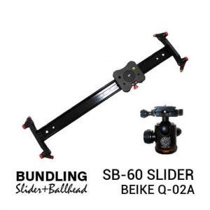 jual Paket Slider 60cm + Ball Head harga murah surabaya jakarta