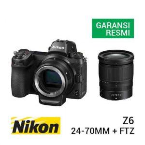 jual kamera mirrorless Nikon Z6 Kit Nikkor Z 24-70mm F4 S + FTZ Adapter harga murah surabaya jakarta