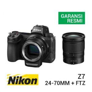 jual kamera mirrorless Nikon Z7 Kit Z 24-70mm F4 S + FTZ Adapter harga murah surabaya jakarta