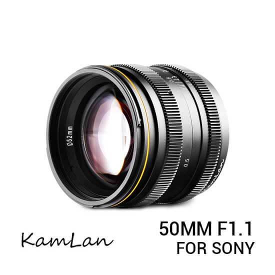 jual lensa Kamlan 50mm F1.1 Sony E-mount harga murah surabaya jakarta