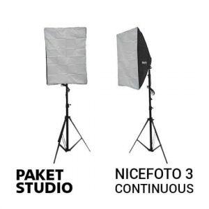jual Paket Studio NiceFoto 3 Continuous Light harga murah surabaya jakarta