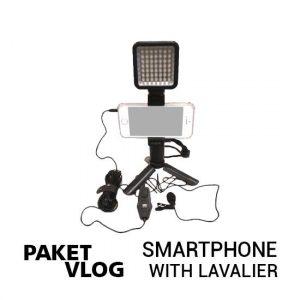 jual Paket Vlog Smartphone With Lavalier Mic harga murah surabaya jakarta