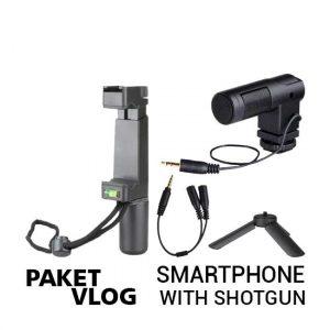 jual Paket Vlog Smartphone With Shotgun Mic 1 harga murah surabaya jakarta