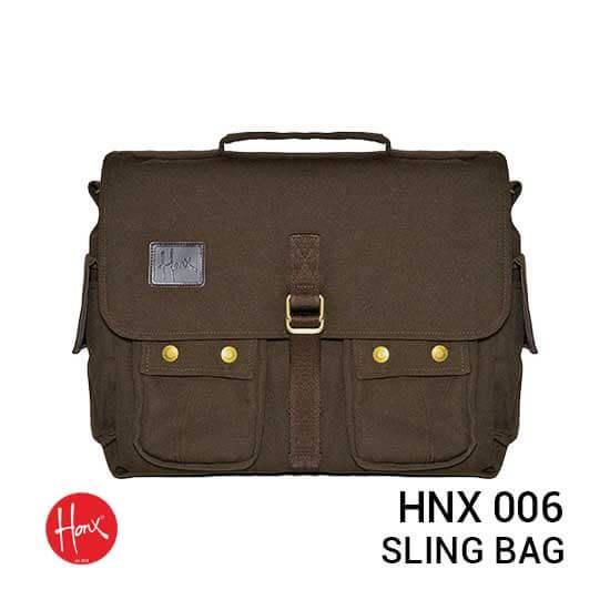 jual tas kamera HONX HNX 006 Sling Bag Brown harga murah surabaya jakarta