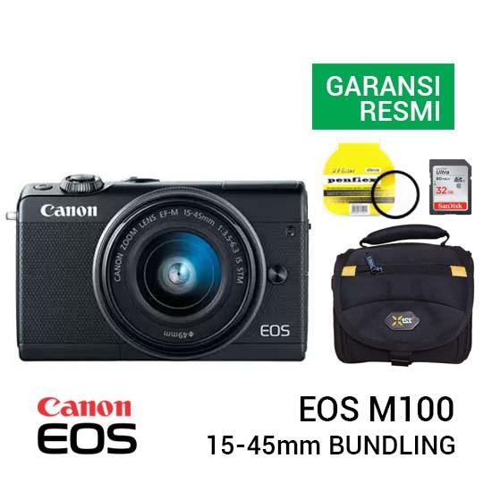 Canon EOS M100 Kit EF-M 15-45mm Bundling new