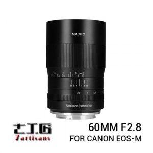 Jual 7Artisans 60mm f2.8 Macro for Canon EOS-M Black Harga Terbaik dan Spesifikasi