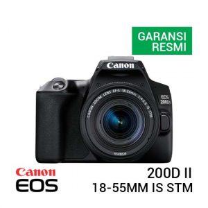 Jual Canon EOS 200D II Kit EF-S 18-55mm IS STM Black Harga Terbaik dan Spesifikasi