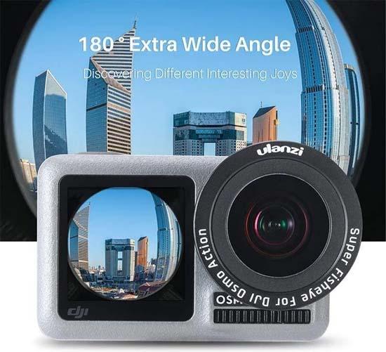 Jual Ulanzi OA-6 Lensa Fisheye for DJI Osmo Action Harga Murah dan Spesifikasi