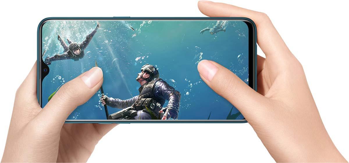 jual Oppo A7 4/64GB Glazing Blue harga dan spesifikasi