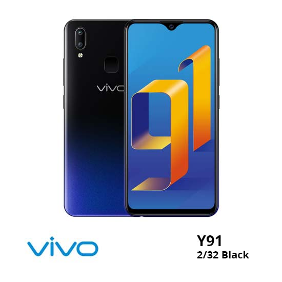 jual Vivo Y91 2/32Gb Black harga dan spesifikasi