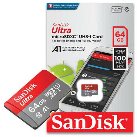 Jual Sandisk Ultra MicroSDXC UHS-I A1 100MBS 677x – 64GB Harga Murah dan Spesifikasi