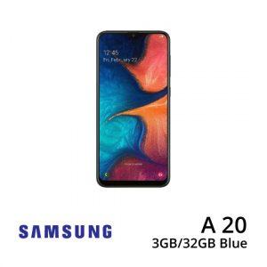 Jual Samsung-A20-2GB-32GB-Blue-Plazakamera-Surabaya-Jakarta-
