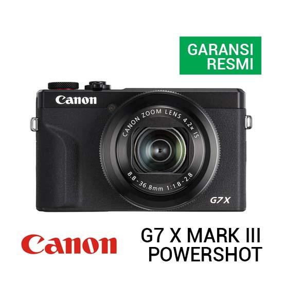 Jual Canon PowerShot G7 X Mark III Black Harga Terbaik dan Spesifikasi