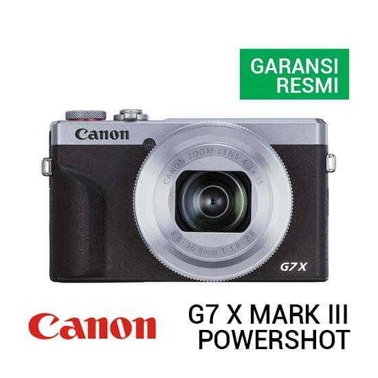 Jual Canon PowerShot G7 X Mark III Silver Harga Terbaik dan Spesifikasi