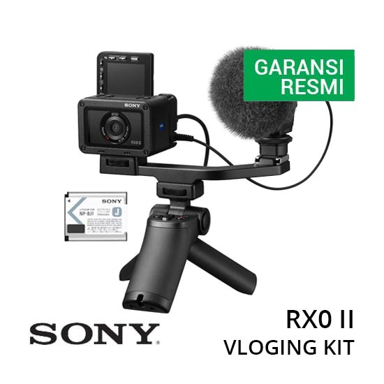 jual Sony Cyber-Shot DSC-RX0 Mark II Vlogging Kit