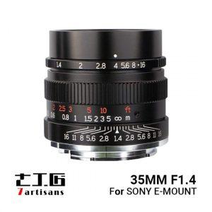 Jual 7Artisans 35mm f1.4 for Sony E-Mount - BLACK Harga Murah dan Spesifikasi