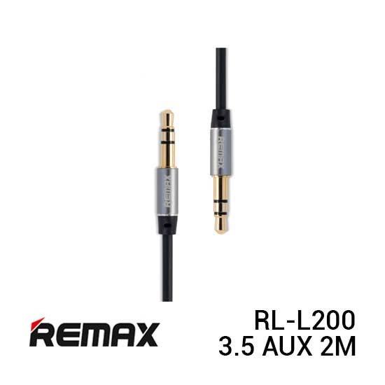 Remax RL-L200 Cable Audio 3.5 AUX 2M Black