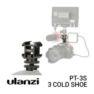 Ulanzi PT-3S Triple Cold Shoe Mount Harga Murah