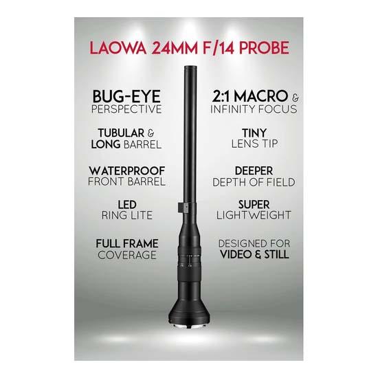 Jual Laowa 24mm f/14 Probe for Sony E-Mount Harga Terbaik dan Spesifikasi