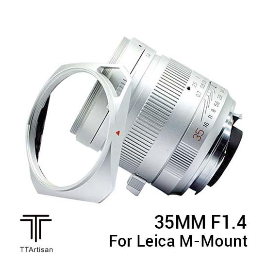Jual TTArtisans 35mm f1.4 for Leica M-Mount Silver Harga terbaik dan Spesifikasi