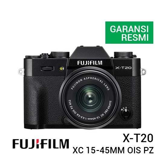 Jual Fujifilm X-T20 With XC 15-45mm F3.5-5.6 Black Harga Terbaik dan Spesifikasi