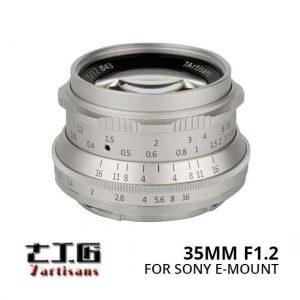 Jual Lensa 7Artisans 35mm F1.2 For Sony E-Mount Silver Harga Murah Terbaik dan Spesifikasi
