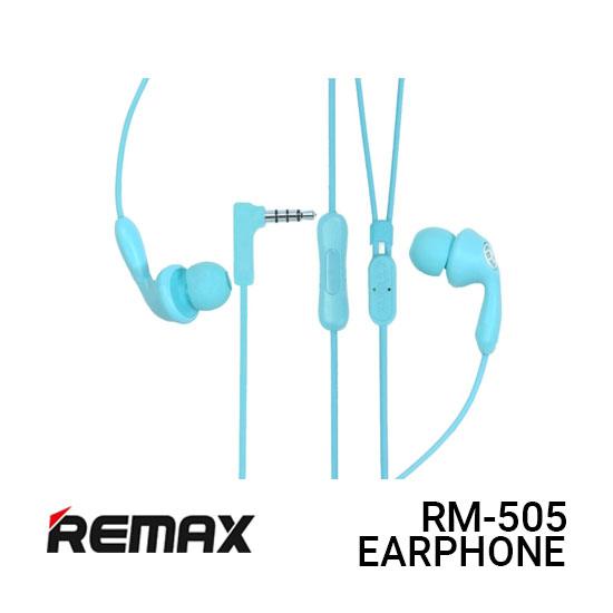 Jual Remax Earphone Candy RM-505 - Blue Harga Murah dan Spesifikasi