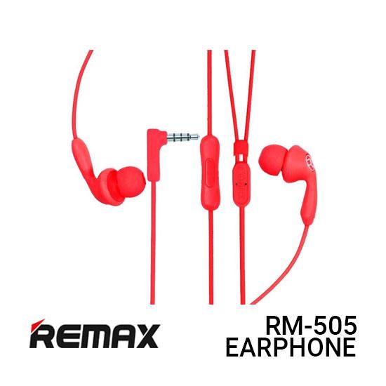 Jual Remax Earphone Candy RM-505 - Red Harga Murah dan Spesifikasi