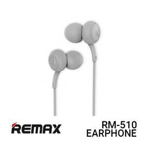 Jual Remax Earphone Concave Convex RM-510 - Grey Harga Murah