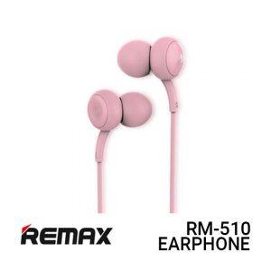 Jual Remax Earphone Concave Convex RM-510 - Pink Harga Murah