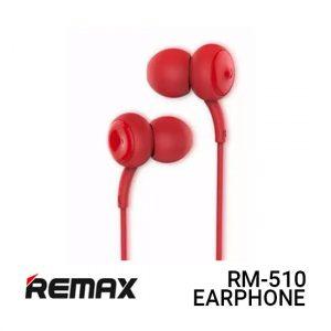 Jual Remax Earphone Concave Convex RM-510 - Red Harga Murah